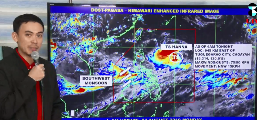 'Bagyong Hanna' PAGASA weather update August 5, 2019