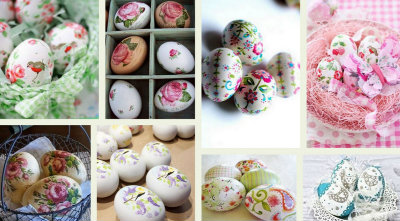 Decoupage σε Πασχαλινά αυγά ...χωρίς κόλλα
