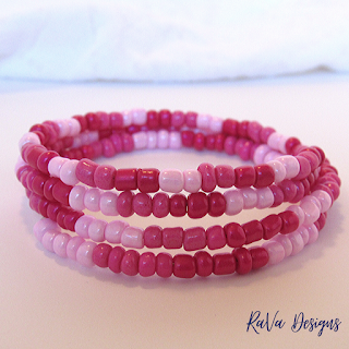 valentine's day handmade jewelry seed beads ombre ideas