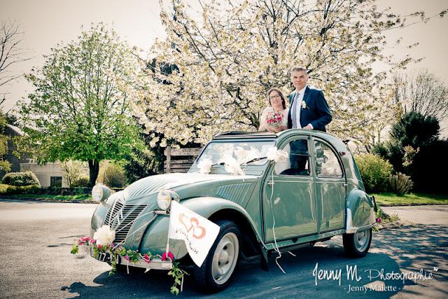 la voiture des mariés, 2 cv, deux chevaux citroen