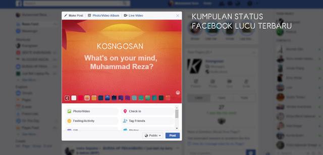 Kumpulan Contoh Status Facebook Lucu Terbaru
