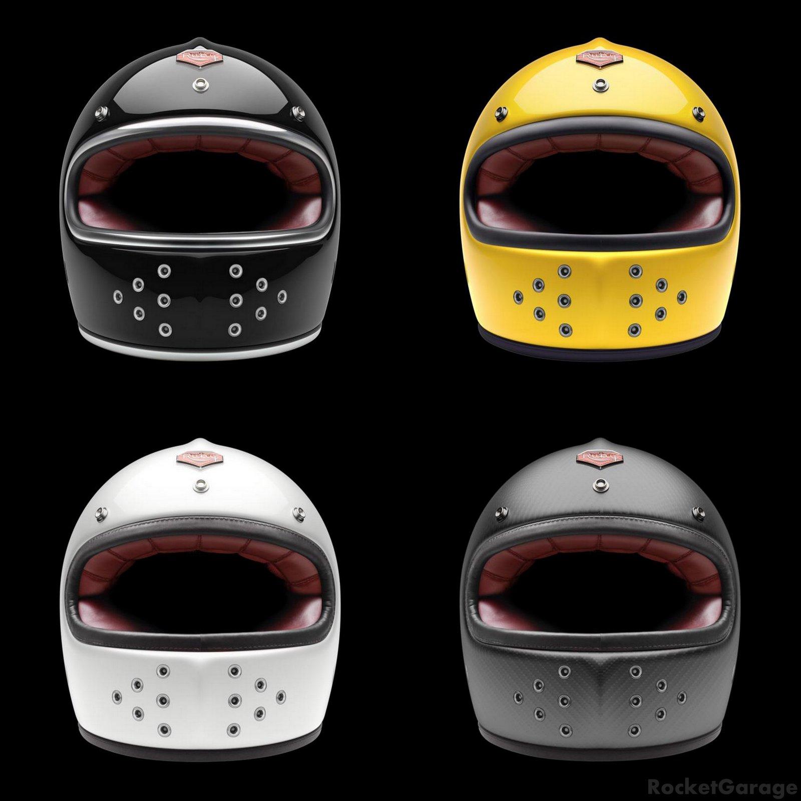 Full Face Helmet Ruby Rocketgarage Cafe Racer Magazine