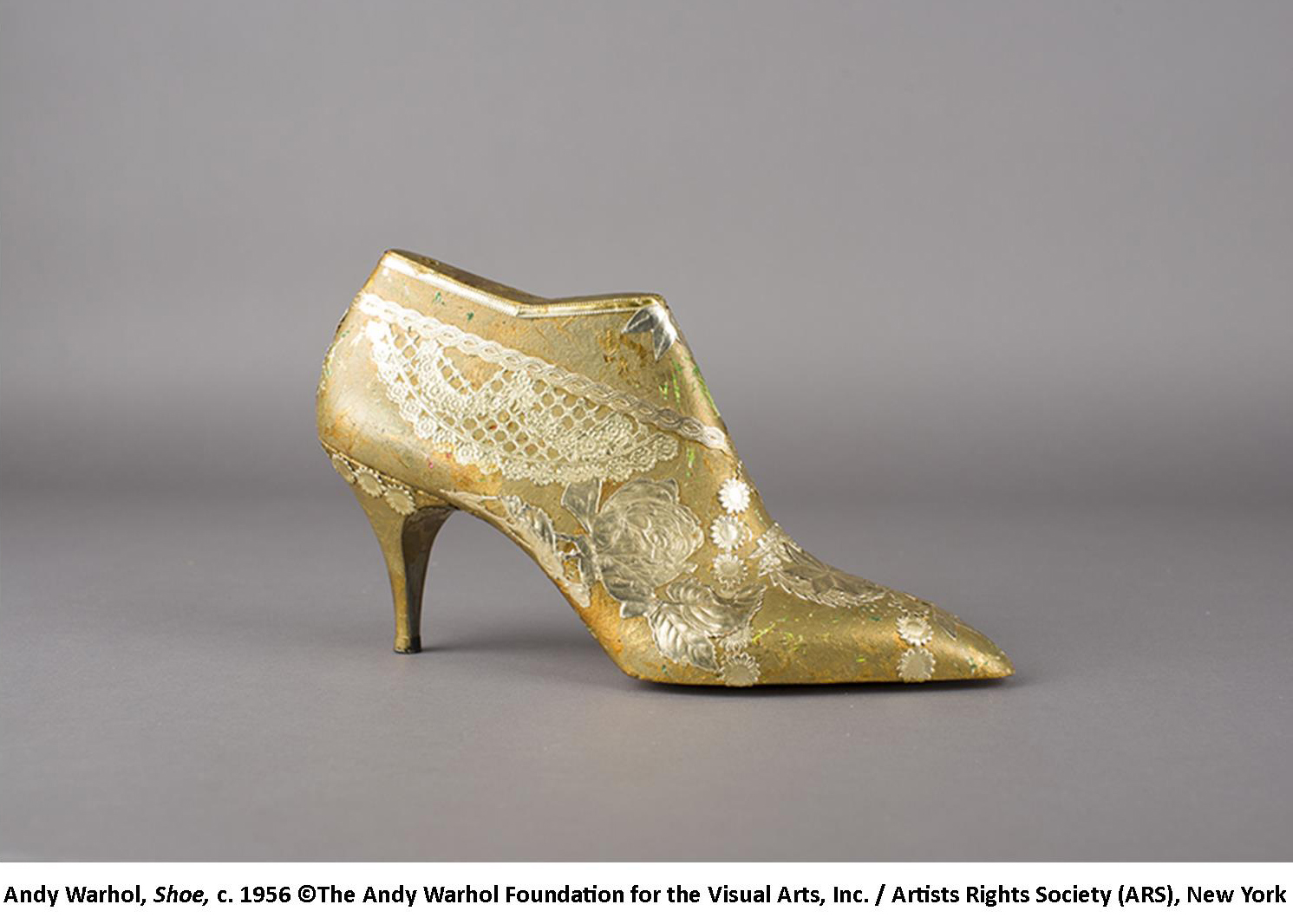 c937c39672c6 About the same time Warhol started making three-dimensional shoe sculptures  They were always shoes of fancy and included shoe lasts with high heels.