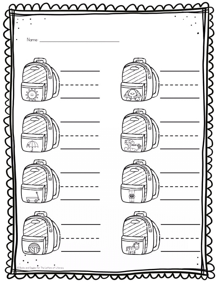 Alphabet Coloring Pages For Kindergarten Students