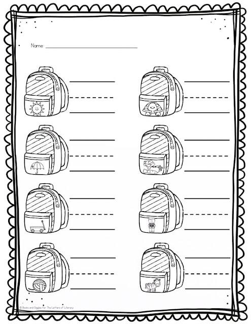 Worksheets & Coloring Pages For Kindergarten Students