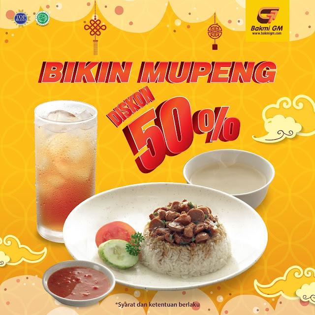 #BakmiGM - #Promo Diskon 50% Tanpa Min Transaksi di Bakmi GM Mall Pakuwon Indah