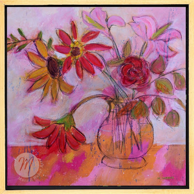 Moving Melody floral painting by Merrill Weber