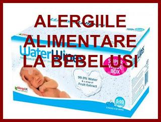 pareri medicale servetele umede cauza alergiilor alimentare la bebelusi