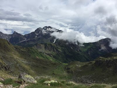 View from the trail south, just before Passo di Mezzeno