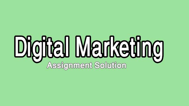 DigiSkills Digital Marketing Course Batch 5 Assignment  Solution