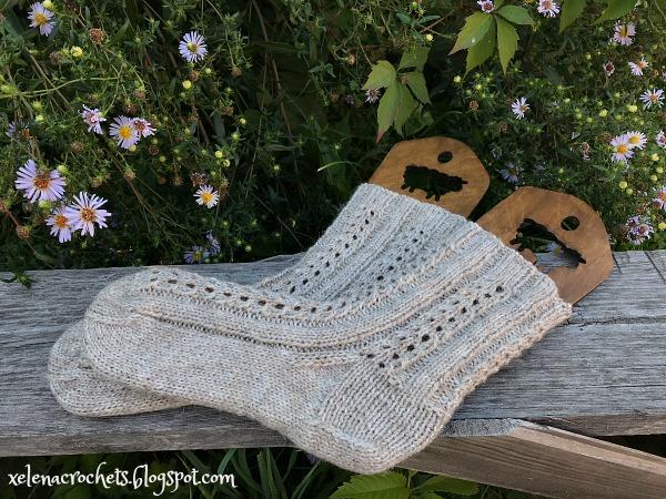 вязание носки спицами