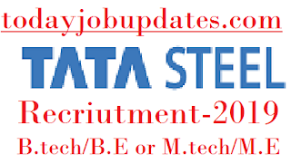 TATA Steel Recruitment for B Tech/ BE or M Tech/ ME Any Specialization-2019