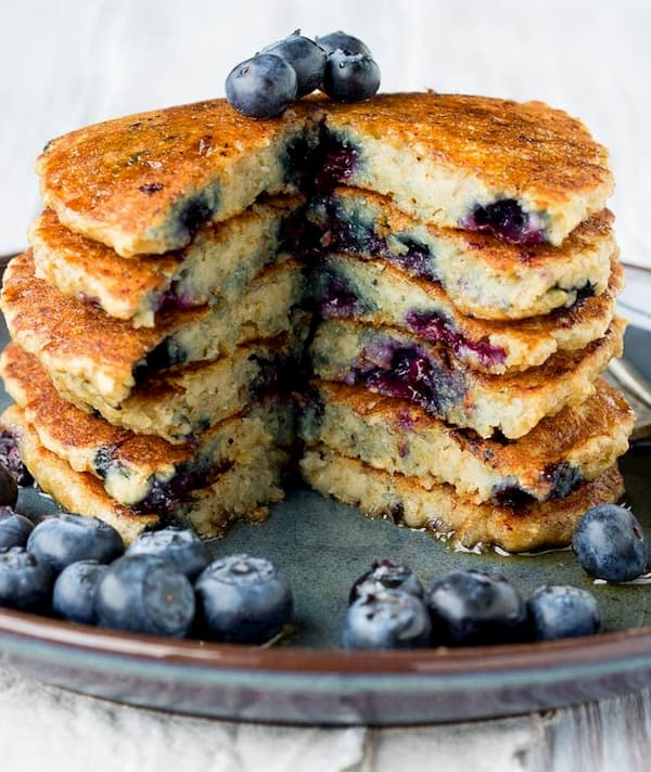 Best Vegan Blueberry Oatmeal Pancakes