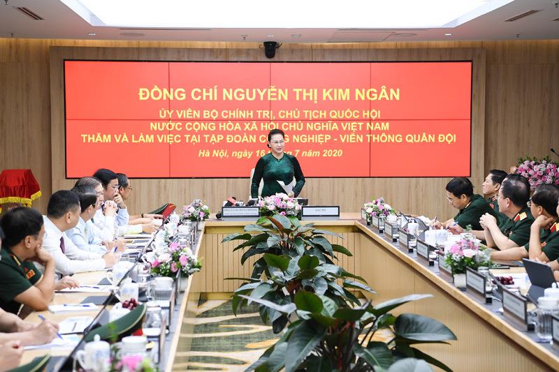 Ảnh minh họa:  Chuyến thăm và làm việc tại Viettel của Chủ tịch Quốc hội-bà Nguyễn Thị Kim Ngân