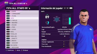 PES 2020 PS4 Classic Option FIFA All Stars by Ciervos Clasicos