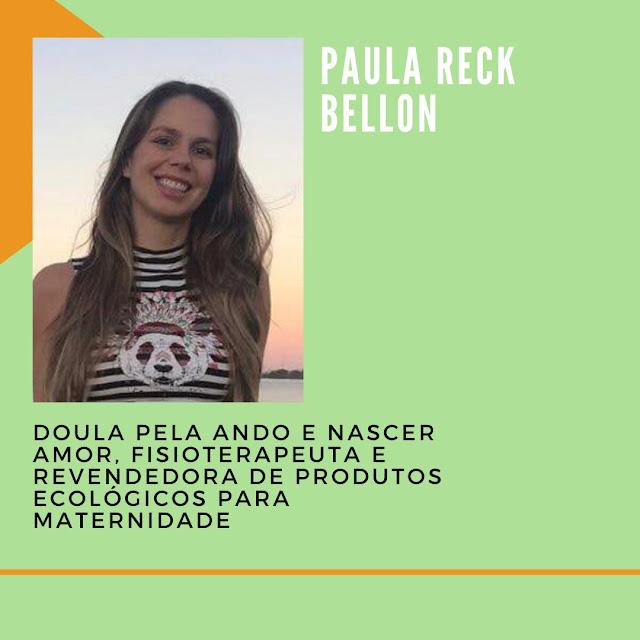 Cartaz sobre a participação da Paula, com nome e minibiografia
