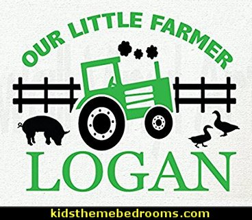 Children's decor, Farm, Ranch, Bedroom, Nursery, Girl Tractor, Boy Tractor