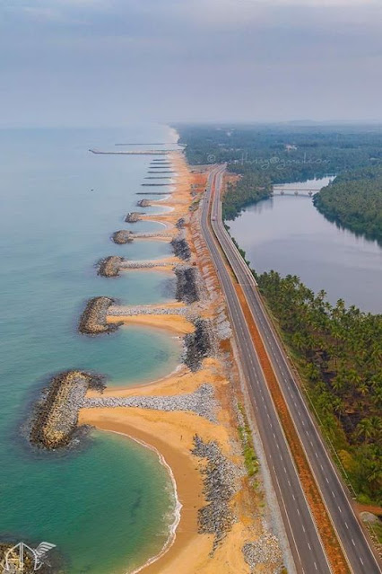 Maravanthe beach karnataka top view