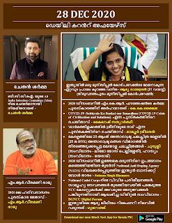 Daily Malayalam Current Affairs 28 Dec 2020