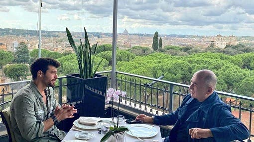 Can Yaman in Rome | the meeting with Ferzan Ozpetek and guest on C'è Posta Per Te