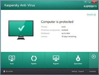 How to activate a trial version of Kaspersky Internet Security 2015