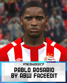 PES 2017 Faces Pablo Rosario by ABW_FaceEdit