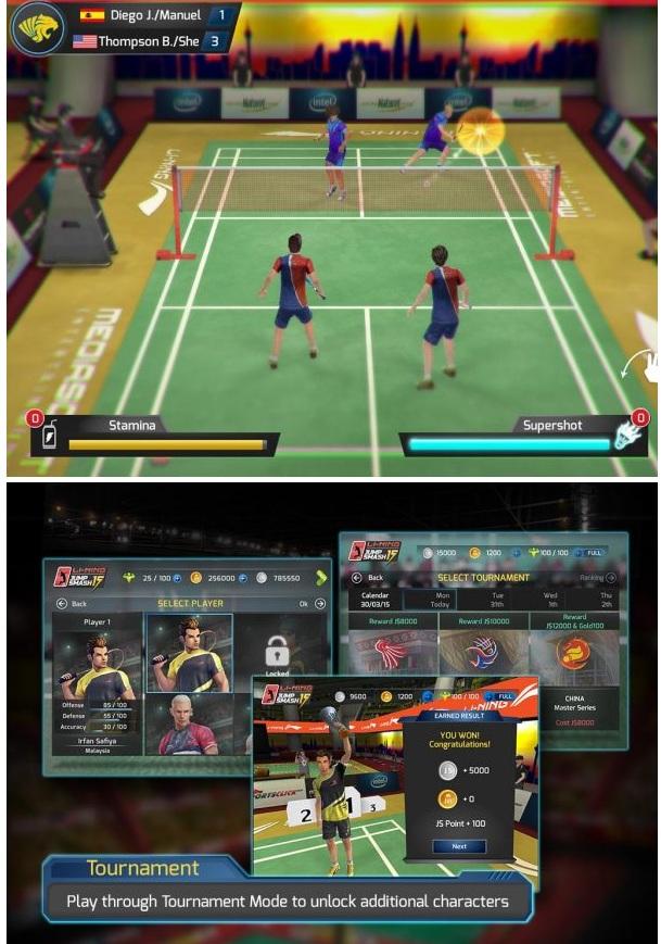 LiNing Jump Smash 15 Badminton v1.3.10 Apk (Money/Energy)