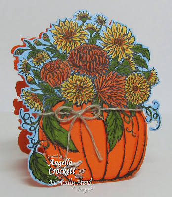 "ODBD ""Fall Flower Pumpkin"", ODBD Custom ""Pumpkin and Flowers Die"" Card Designer Angie Crockett"