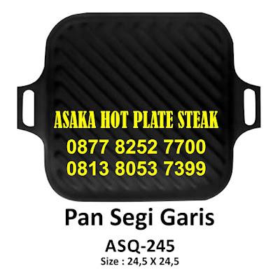 Hot Plate Pan Segi Garis ASQ - 245 ~ ASQ - 245 Pan Segi Garis, jual hotplate, hot plate persegi, jual hot plate murah, grosir hot plate, produksi hot plate