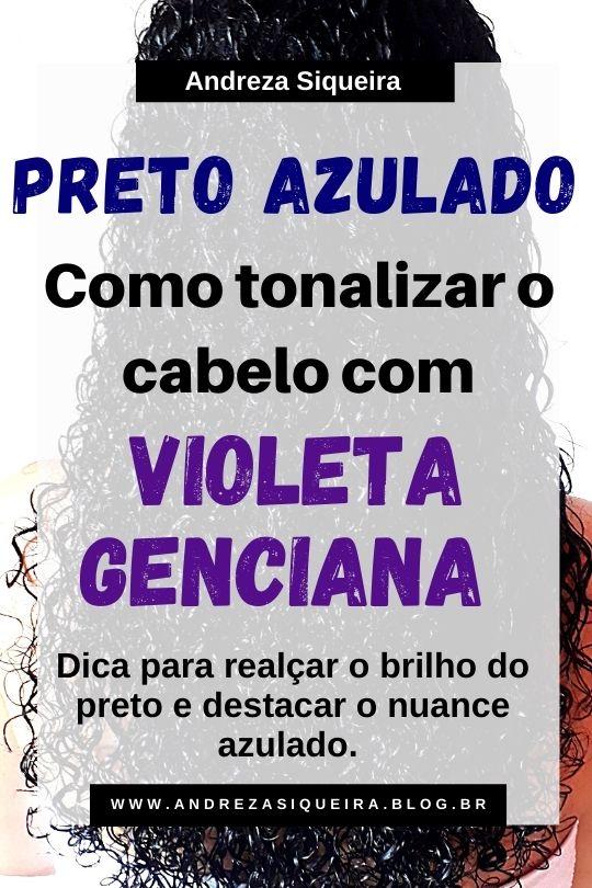 PRETO AZULADO COM VIOLETA GENCIANA