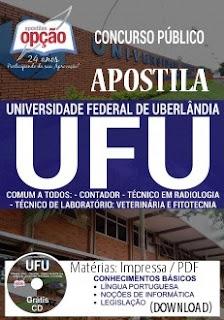 Apostila Universidade Federal de Uberlândia (UFU) CONCURSO 2017