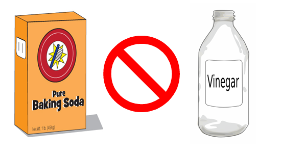 Mezcla de agua bicarbonato y vinagre