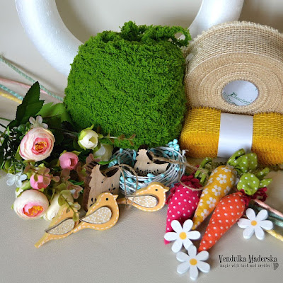 Crochet wreath - free tutorial by Vendulka Maderska