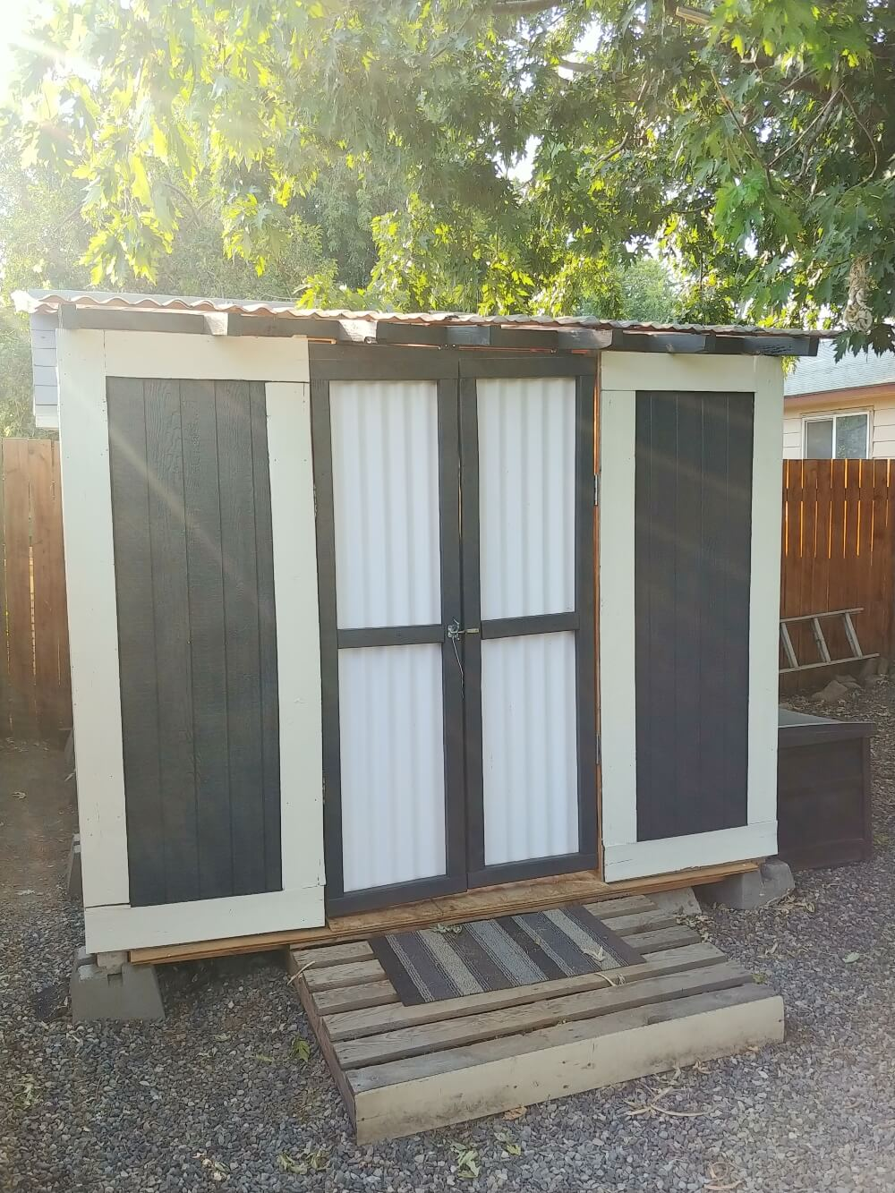 Building a Backyard Shed - Former Wood Storage Area
