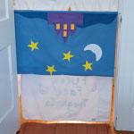 Pillowcase Puppet Theater step 3