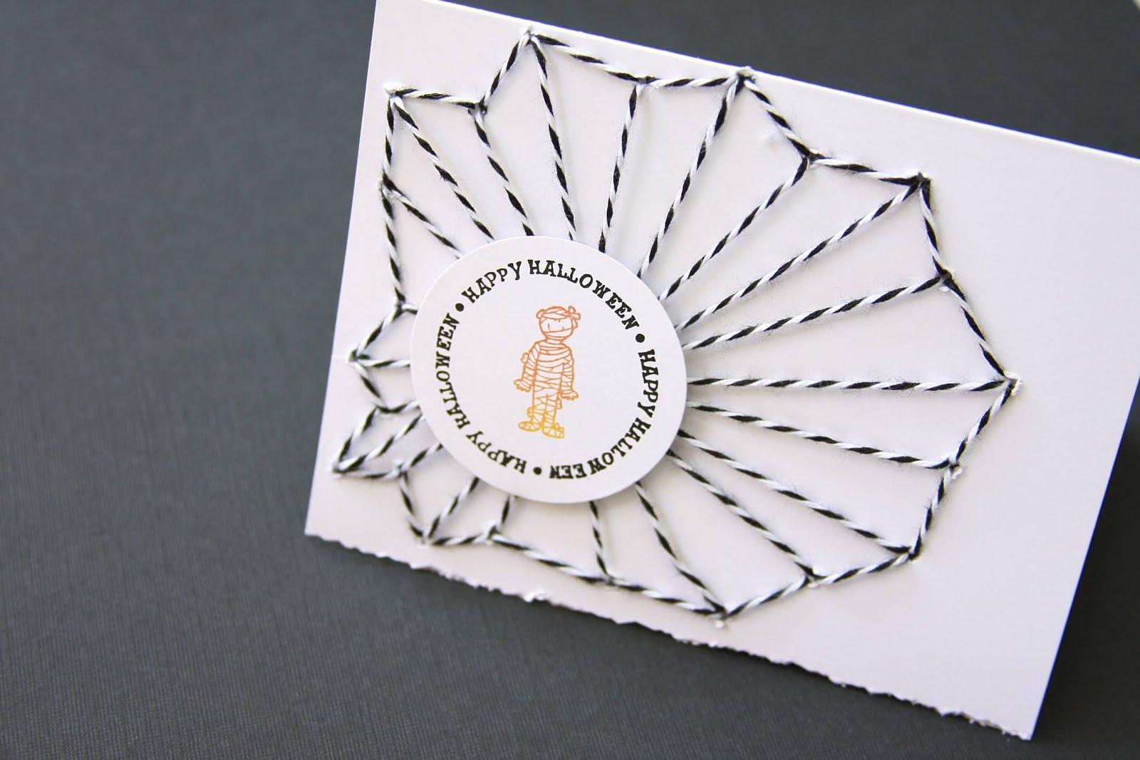 Baker's Twine Spiderweb Halloween Card |  iloveitallwiithmonikawright.com