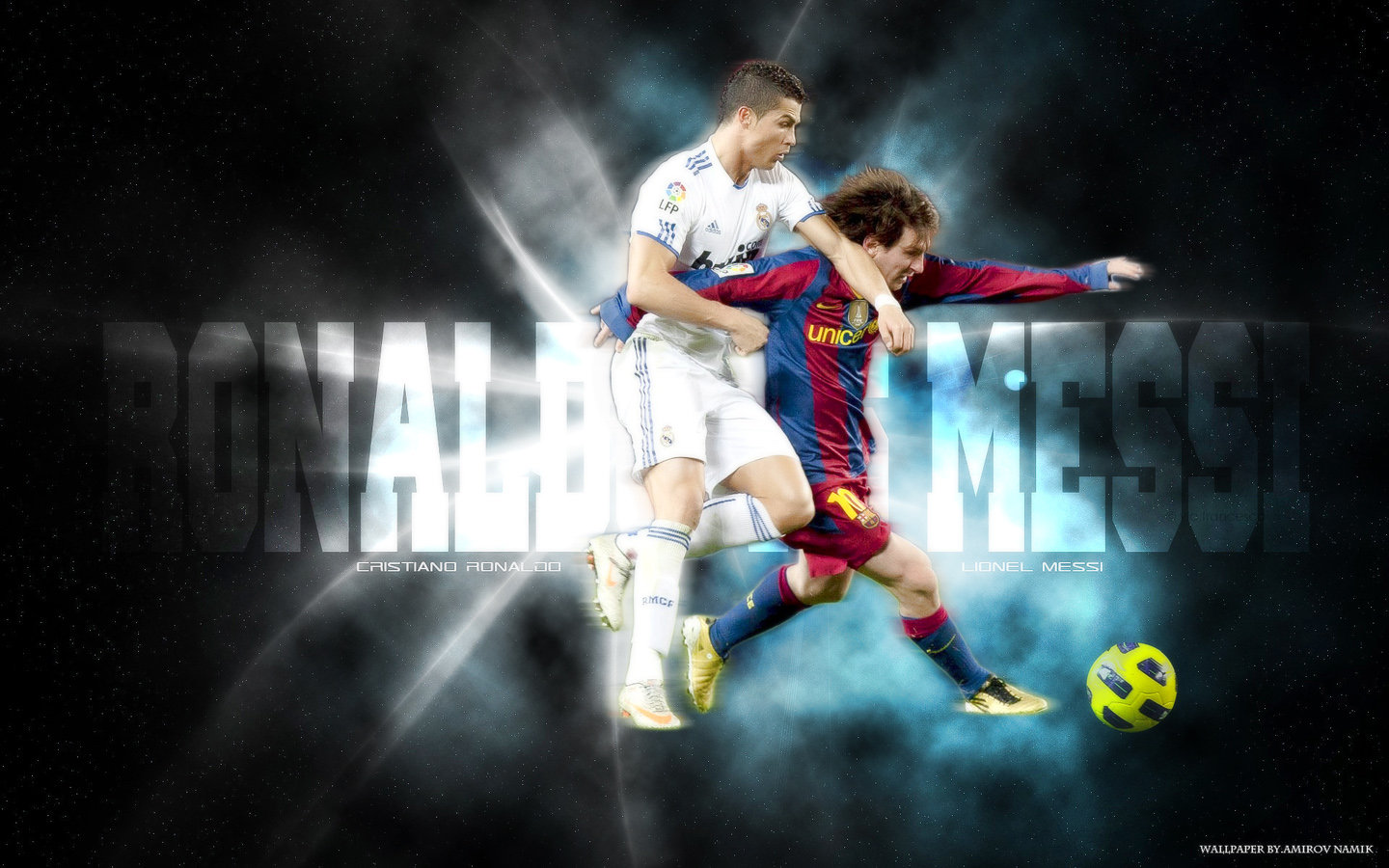 Wallpaper De Messi Vs Cronaldo Wallpaper