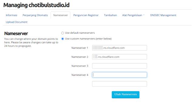 Cara mengarahkan DNS Manager ke Cloudflare