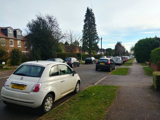 cars parked on Pine Grove. Image by North Mymms News released under Creative Commons