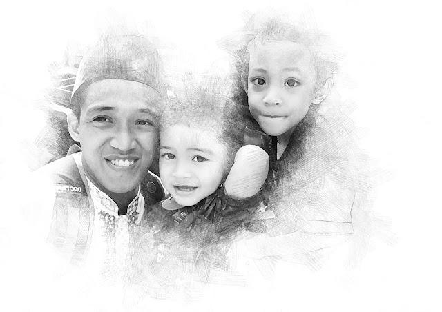 Digital Sketch Rendi dan Keluarga