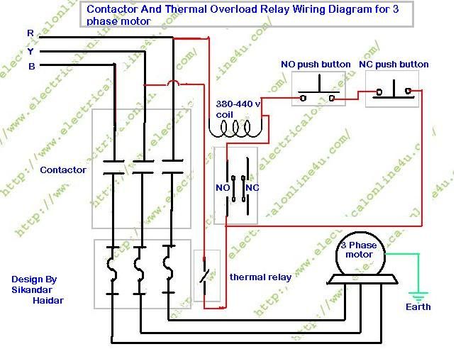 DOL Starter Diagram - Direct Online Starter for 3 Phase Motor -  Electricalonline4uElectricalonline4u