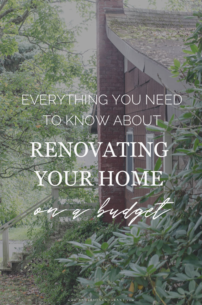 Renovate your home on a budget