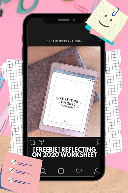 reflecting on 2020 freebie pinterest pin