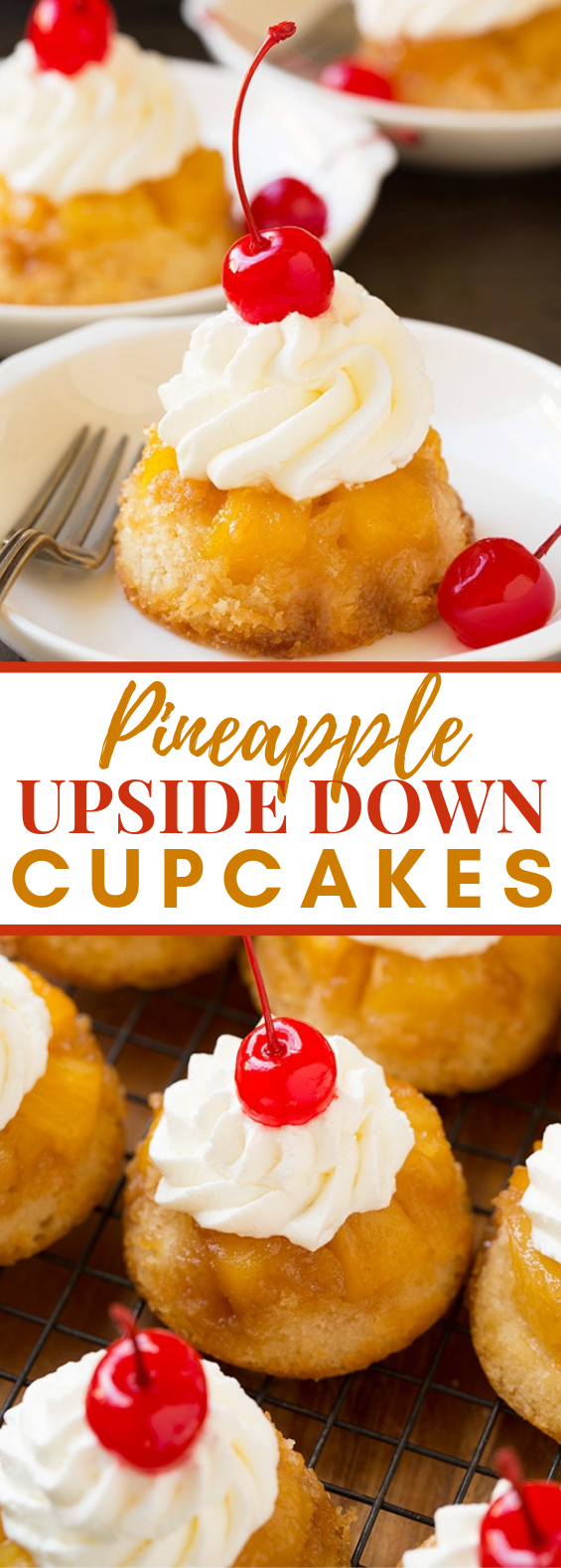 Pineapple Upside Down Cupcakes #desserts #easter