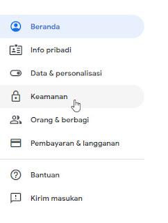 Menambahkan Email Pemulihan Gmail