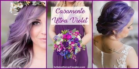 Inspirações de Casamento Ultra Violet 18-3838, a cor Pantone de 2018