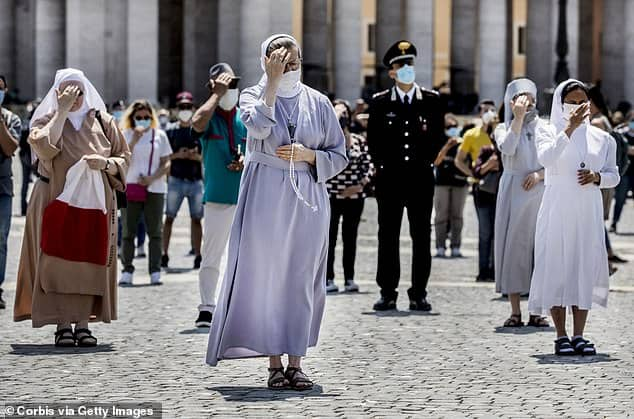 ITALY EMERGES AT ST PETER'S SQUARE AFTER THREE MONTHS OF LOCKDOWN