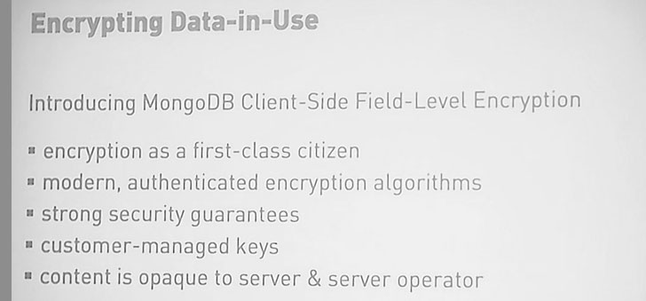 MongoDB Field Level Encryption