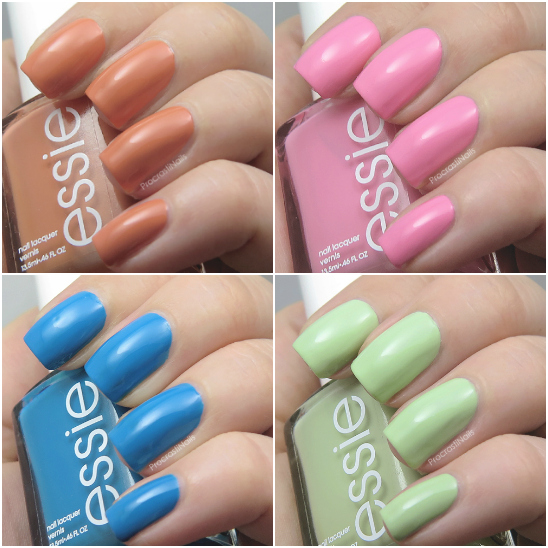 Swatches from the Essie 2016 Resort Collection