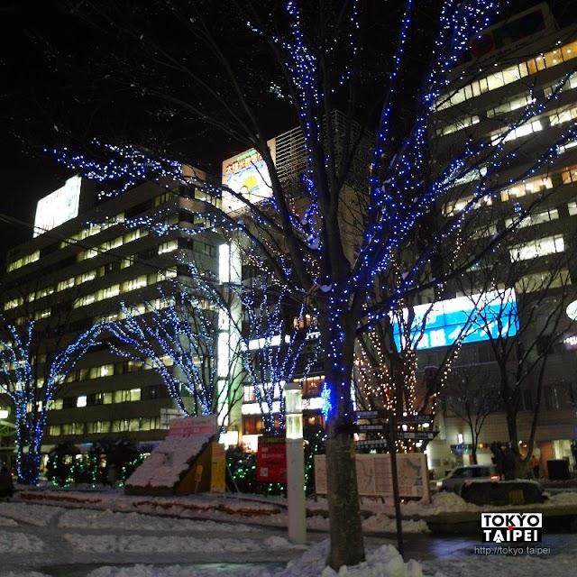 【福島光之雫Illumination】福島車站旁孤寂而閃亮的燈祭